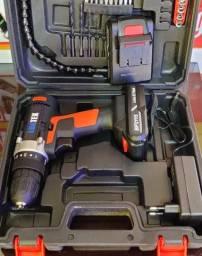 Parafusadeira profissional 21v c/ 2 baterias.