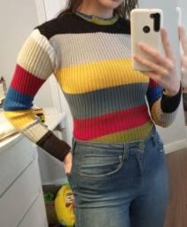 Blusa vintage de lã