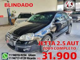VW - Jetta 2.5 - Autm - 2009 - Blindado - Completo