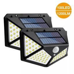 Luz led, placa solar