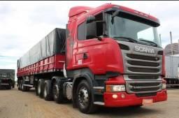 Scania R440 8x2 carreta graneleira 2014 Parcelo 1° caminhão