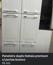 Paneleiro duplo Itatiaia diamante c/ 6 portas branco
