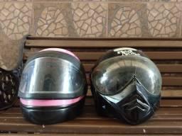 Dois capacetes por 100,00