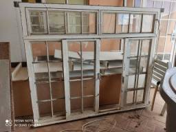 Janelas e porta de aço com vidro - valor unitário