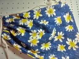 Bolsa feminina saco floral