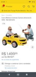 Carro Elétrico Controle Camaro Amarelo 6 Volts - Bandeirante