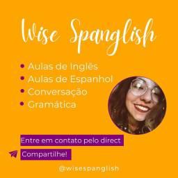Aulas de inglês e espanhol