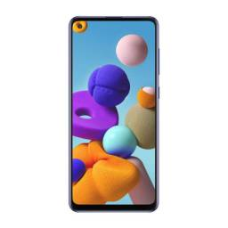 Telefone Galaxy A21ai 64GB 6,5? Câmera Quádrupla 48MP 8MP 2MP 2MP Frontal 13MP Azul