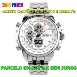 a3d59424548 Relógio Masculino de Aço inoxidável Skmei