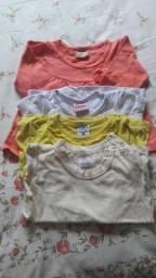 Lotinho de blusinhas infantis menina