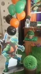 Decoração ou pegue e monte provençal tartaruga ninjas