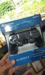 180,00 Controle PS4 na caixa