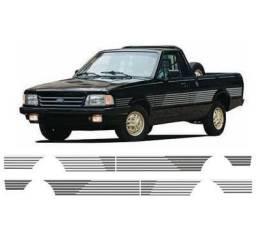 Kit Faixa Adesivos p/ Ford Pampa 1.8 S/ modelo original / Cinza