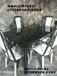 Mesas 4 cadeiras retangulares. Produtos totalmente novos