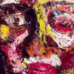 Pintura óleo, 50x55cm
