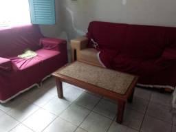 Jogo sofá com mesa completo