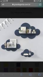 Trio de prateleiras nuvem - Grão de gente