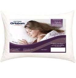 Travesseiro 50×70 cm fibra de poliéster..faço a entrega