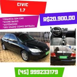 Civic LX 1.7 2006 Completo