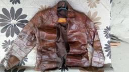 Jaquetas femininas de couro legítimo da marca Moais