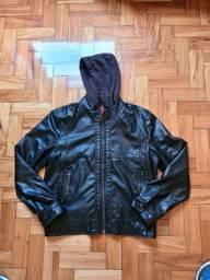 Jaqueta de couro Zara
