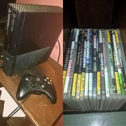 Xbox 360 com 15 jogos