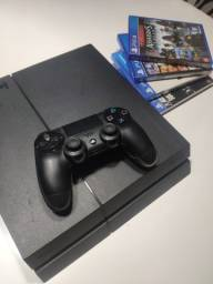 Playstation 4 - Ps4 500gb Original + Jogos