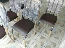 Cadeira novas avulso estofadas tubular