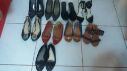 Lote de calçados usados