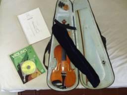 Violino usado com todos os acessórios e 2 métodos