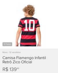 Camisa do Flamengo retro infântil