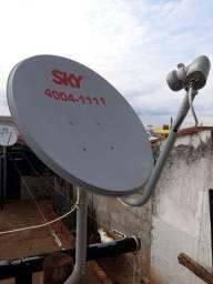 Vendo antena de 60 cm banda Ku completa