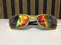 (Aceito cartão) Óculos solar unissex modelo Juliet - Lente: Espelhada estilo Oakley