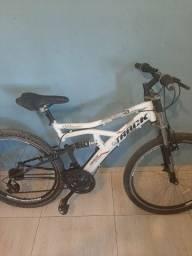 Bicicleta track aro 26 com amortecedor na frente e no meio