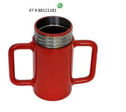 Kit copo e caneca para estronca metálica