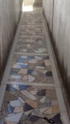 Produção de piso/parede com restauração de cerâmicas