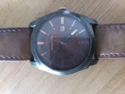 Relógio Clock House pulseira de couro