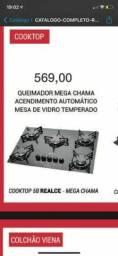 COOKTOP MEGA CHAMA ACENDIMENTO AUTOMÁTICO.