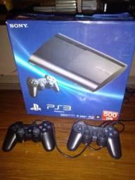 Playstation 3 excelente com jogos e caixa