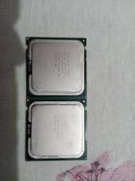 2 Processadores Intel E7500 e Celeron 06 450