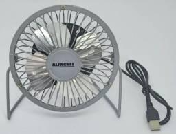 Mini Ventilador de mesa USB Em Metal Alfacell AL12005 novo