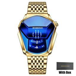 Relógio Masculino BINBOND Dourado
