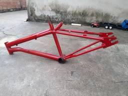 Quadro de bike vermelho