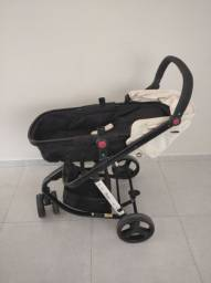 Título do anúncio: Carrinho + bebê conforto com base + capa