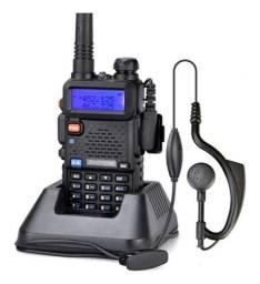 HT Rádio Amador Portátil VHF e UHF Potência máxima de 5w