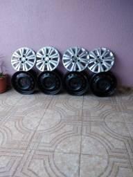 Vendo rodas de ferro e carlota do Honda fit lx
