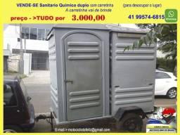 Sanitário Químico  Duplo Carretinha de Brinde