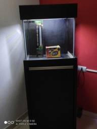 Aquário 50x50x50 com samp traseiro + armário 50x50x1metro