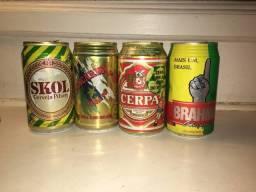 Título do anúncio: Lote 4 Latas Cerveja Copa do mundo anos 90 Ler descrição