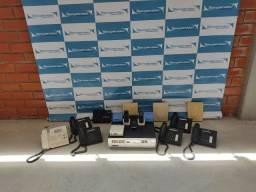 Celtral telefônica IP Alcatel com vários acessório